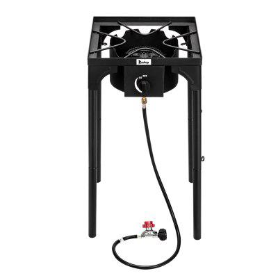 Outdoor Camp Stove Camp Kitchen High Pressure Propane Gas Cooker Cast Iron Patio Cooking Burner Picnic Stove Single Burner