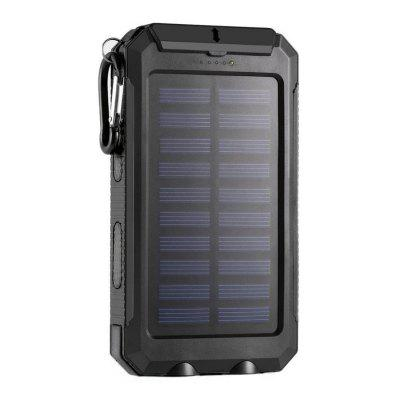 Portable 10000mAh Solar Mobile Power Waterproof Multi-function Outdoor Emergency Power Bank Supply