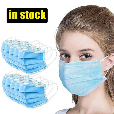 100pcs Mask Disposable Nonwove 3 Layer Ply Filter Mask mouth Face mask