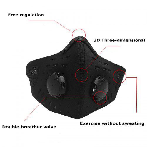 No Sweat Outdoor Sports Adjust Mask Breath Smoothly Anti Dust Face Mask Windproof