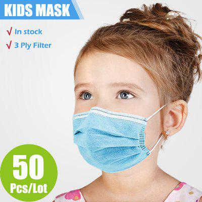Children Face Masks 3 Layer Elastic Mouth Mask Kids Disposable Mask Soft Breathable PM2.5