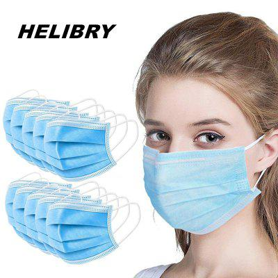 100pcs Mask Disposable Nonwoven 3 Layer Ply Filter mouth Face mask