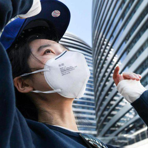 Purely Folding Protective Mask Face Facemask Filter     Smog Folding from xiaomi youpin