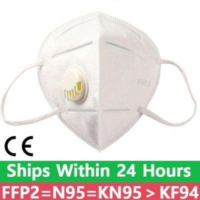 KN-95 Protective Masks 5-Ply Nonwoven Dust Mask PM 2.5 Air Valved Anti Fog Particulate Mouth Facia