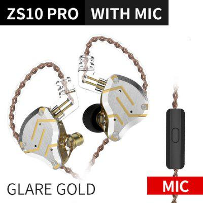 2019 KZ ZS10 PRO  Hybrid Earphone headset HIFI Earbuds In Ear Monitor Headphones Earbuds for KZ