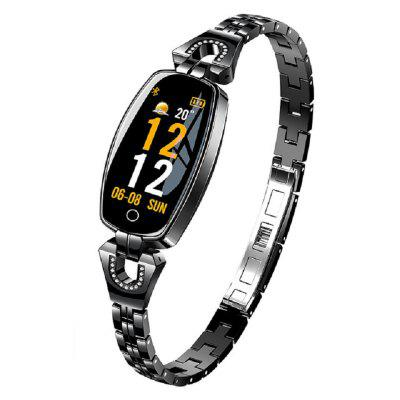 EMFO H8 Smart Watch Donna 2019 Monitoraggio impermeabile della frequenza cardiaca Bluetooth per Android IOS Fitness Bracciale Smartwatch