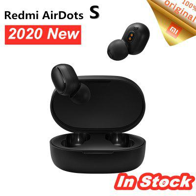 2020 Original Xiaomi Redmi AirDots S Left Right Low Lag Mode Mi Redmi AirDots 2 TWS Bluetooth 5.0 - Black