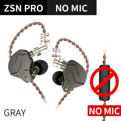 KZ ZSN PRO 1BA+1DD Hybrid In Ear Earphone DJ Monitor Running Sport Earphone HIFI Headset Earbud