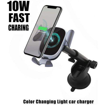 Wireless Car Charger Mount LED 10W Fast Charging Car Mount Air Vent 360 Rotation