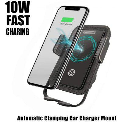 Wireless Automatic Clamping Car Charger Mount Qi 10W Fast Charging Car Mount Air Vent 360 Rotation
