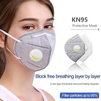 KN95 Respirator mask Polution Anti Dust Mask with valve Safety Protective Reusable Non-medical