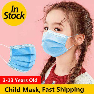 Kids Disposable Mask 3 Layers Droplets Adult Child Protection Breathable Safety Masks Non-Medical