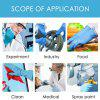100PCS Disposable Gloves Protective Gloves Anti-virus Safe Working Gloves Clear and Blue