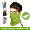 Face Mask Turban Magic Scarf Protection Mouth Mask with Filters For Outdoor Dust Festival Sports