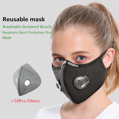 Cycling Face Mask Filter Anti fog Breathable Dustproof Respirator Non-medical Protection