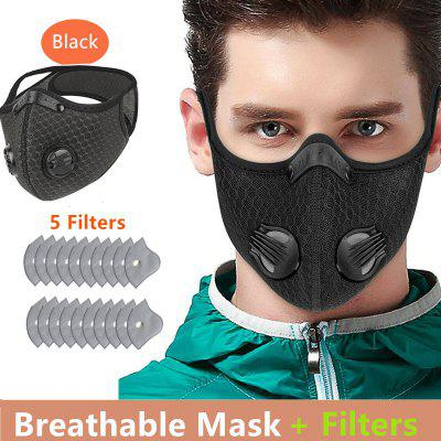 Cycling Face Mask Activated Carbon Windproof DustProof Lightweight Breathable Sportswear