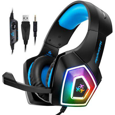Gaming Headset Xbox One Headset PS4 Headset with 7.1 Surround Sound Noise Cancelling Mic and LED Light Compatible with Xbox One PS4 PC Laptop