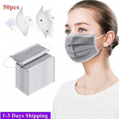 1-3 Days Fast Shipping Mask Disposable Face 3 Layer Dustproof Mask Unisex Grey Pink Comfortable and Breathable