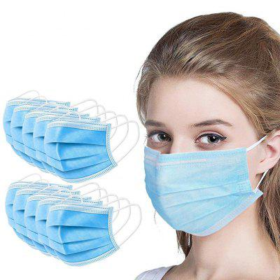 100PCS Mask Disposable 3 Layer Face Mouth Protective Anti-dust Comfortable Breathable Masks Non-Medical