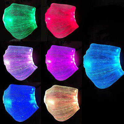 LED Rave Mask Light Up Glowing 7 Colors Luminous Face with Filters Party Christmas Halloween for Men Women Children