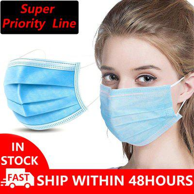 Anti-Pollution Espirator Masques jetables jetables Non médicaux 3 couches Meltblown Filter Earloops