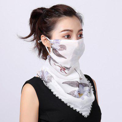 Outdoor Riding Mask Wholesale Fashion Printing Female Big Neck Protector Sunscreen Scarf Mask Non-medical Mask