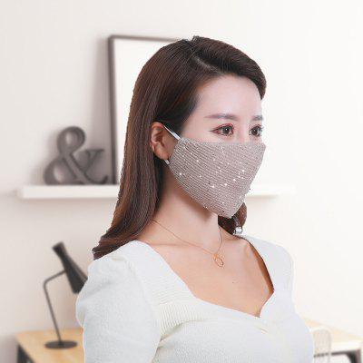 Fashionable Sequins Washable Thin Section Breathable Men And Women Ice Silk Masks Non Medica Mask