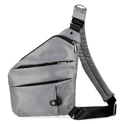 Mens Trend Chest Bag Oxford Cloth Messenger Sports Pockets Multi-function Personal Shoulder Anti-theft Crossbody Bag