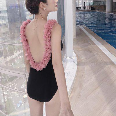 Swimsuit 1 Piece Flora Slim Padding Fashion Women Swimwear Sexy QYE6616MRA18801
