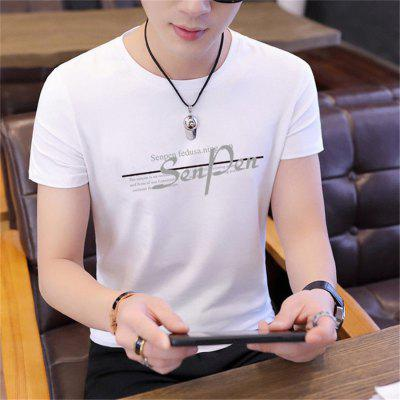 Mens 2020 Summer Loose Tshirts For Men Fashion Causal Male Korean Clothing High Quality Short Sleeve Round Neck