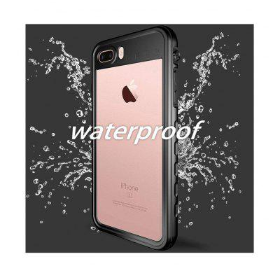 For iPhone SE 2020 11 Pro Max Waterproof Sealed Case 360 Degree Shockproof Diving Underwater Cover for iPhone 6 6s 7 8 Plus Case - Black