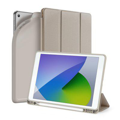 for iPad 7 8 10.2 inch Leather Cover with Pencil Holder Smart Tablet Case Auto Sleep Wake