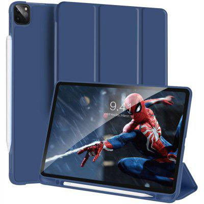 Magnetic Leather Case for iPad Pro 12.9 2020 2018 Trifold Smart with Auto Sleep Wake Stand Pen Holder Support wireless Charging