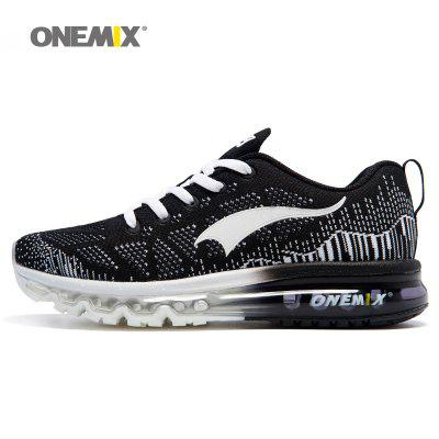 ONEMIX Men Sneaker Breathable Mesh Running Sports Shoes Air cushion running shoes  36-47