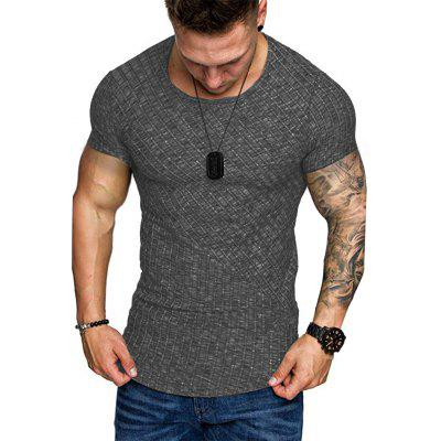 Summers New European Style Mens Short Sleeve T shirt In Solid Color