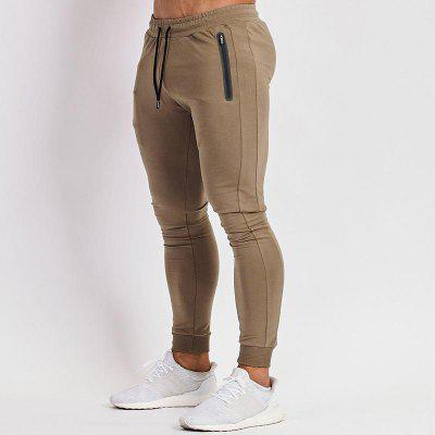 New Solid Color Sports And Fitness Pants Mens Running Mens Wear