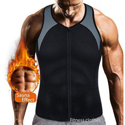 Mens Vest Weight Loss Clothes Sauna Clothes Sweat Body Reducing Clothes Large Size Body Shaping Top Mens Fitness Clothes