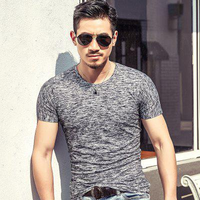 Casual New Mens T Shirt Mens Short Sleeve Base Shirt T Shirt