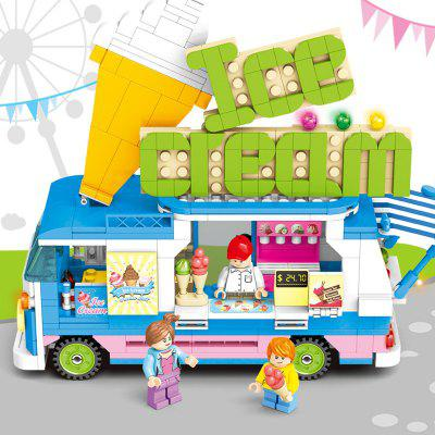 Ice Cream Car Hot Dog Sale Car Children Puzzle Assembled Building Block Toy Car