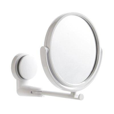 Modern Drill-free Bathroom Mirror 2 Side Makeup Vanity Shave Mirrors Wall Suction Folding Arm Extend Round Bath Accessories