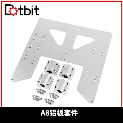 Dotbit Upgrade Y Carriage Anodized Aluminum Plate With 4pcs SC8UU For A8 Hotbed Support For Prusa I3 Anet A8 3D Printers