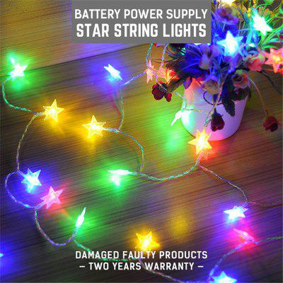 DINGDIAN LED DC5V Led Star Shape Fairy Lights Christmas Lights Indoor 5M RGB Battery Operated Christmas Decorations Home Outdoor