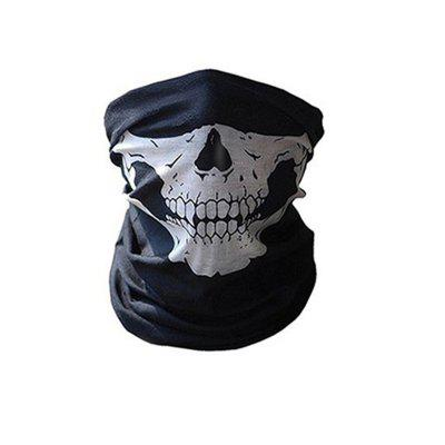 Skull Masks Bicycle Ski Half Face Mask Ghost Scarf Neck Warmer Multi Use Magic Cycling Shield Halloween Props