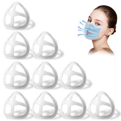 10pcs 3D Mouth Mask Support Breathing Assist Help Mask Inner Cushion Bracket Food Grade Silicone Mask Holder Breathable Valve