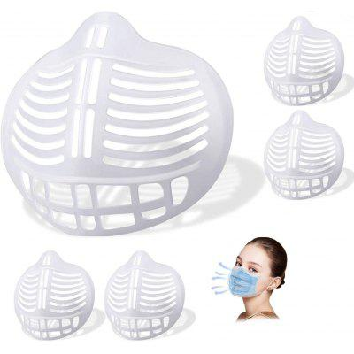 5pcs 3D Face Mask Bracket Internal Support Frame Breathable Inner Reusable Lipstick Protector for Adults