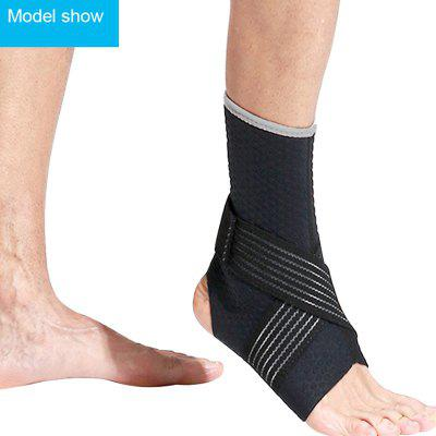 1Pc Black Sports Safety Ankle Brace Protector Adjustable Bandage Football Ankle Support Pad tobillera