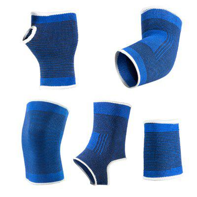 5 Pieces/Set Basketball Volleyball Wristband Palm Elbow Knee Pad Ankle Brace Protector Kits Sports Support rodillera basquete
