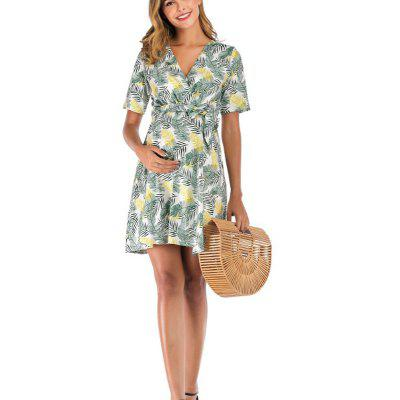 Cheap Price 2020 New Arrival Bandage loose size print dress for Summer