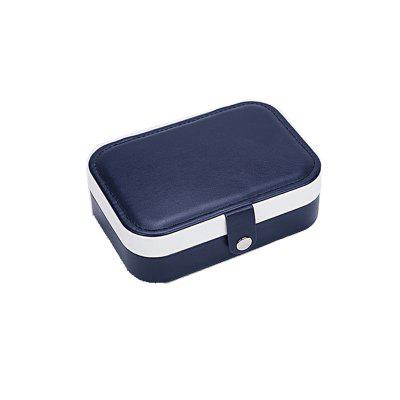 2020 Universal Jewelry Organizer Travel Jewelry Case Portable Jewelry Box Button Leather Storage Zipper Jewelers Necklace Earrings Ring Case