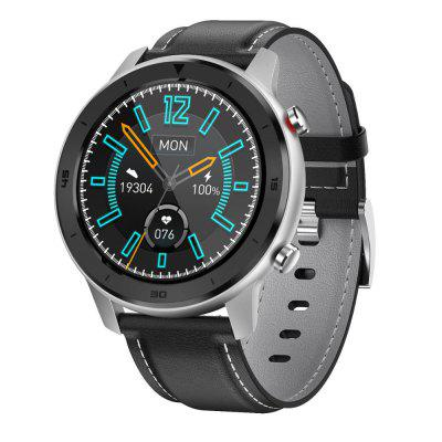 DTNO.1 DT78 1.3 inch Full Round Heart Rate Monitor Fitness Tracker Waterproof Smart Watch Leather Strap